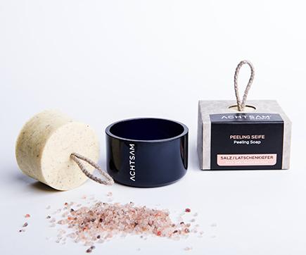 Salzseife mit Schale und Seife